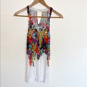 💛 3/$20 American Eagle Floral And White Tank Top